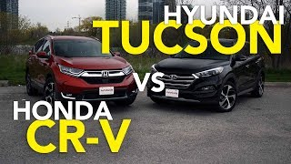 Download 2017 Honda CR-V vs Hyundai Tucson Comparison Video