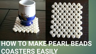 Download How to make pearl beads coasters easily Video