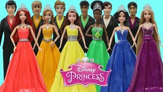 Download Play Doh Disney Prince & Princess Anna Tiana Belle Ariel Rapunzel Snow White Prom Costumes Video