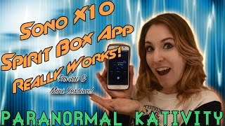 Download Sono X10 Spirit Box App Really Works! (review & mini session!) Video