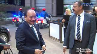 Download Arrival of the Heads of State/Government for Day 2 of 12th ASEM 10/19/2018 Video