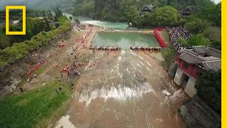 Download See an Ancient Wonder of China that Transforms a River | National Geographic Video