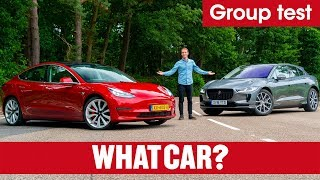 Download 2019 Tesla Model 3 vs Jaguar I-Pace SUV review – which is best? Electric car showdown | What Car? Video