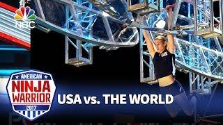 Download Jessie Graff's Record-Breaking Run - American Ninja Warrior: USA vs. The World Video