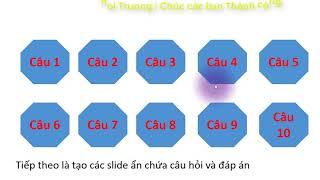 Download Thiết kế trò chơi câu hỏi và hiệu ứng biến mất câu đã chọn trong PowerPoint Video