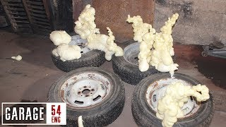 Download What happens when you fill tires with construction foam Video