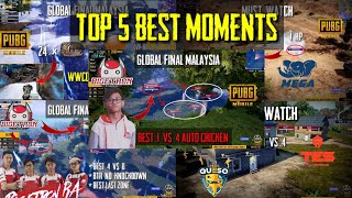 Download Top 5 Best Moments PMCO Global Final | Pubg Mobile | Day 1 - 3 Video