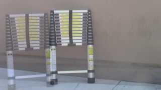 Download 12.5Ft 12 1/2ft Telescopic Aluminum Extension Step Ladder Ansi Certify/ DEMO TEST Video