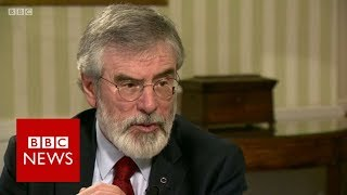 """Download """"Why did you not join the IRA?"""" Gerry Adams (FULL INTERVIEW) - BBC News Video"""