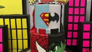 Download Marvel VS. DC- Cake Timelapse tutorial. Video