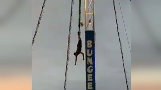 Download 19-Year-Old Left Dangling by His Feet When Bungee Jump Malfunctioned Video