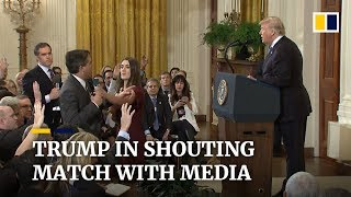 Download Donald Trump clashes with media at chaotic midterm election press conference Video