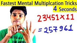 Download Fastest Mental Multiplication Tricks - Multiply Any Digit Number Instantly in 4 Seconds Video