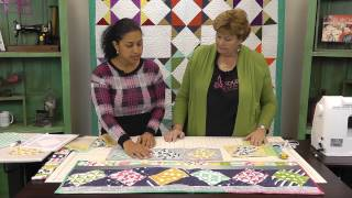 Download Twist 10 Table Runner Tutorial with Jenny Doan of Missouri Star Quilt Co. Video