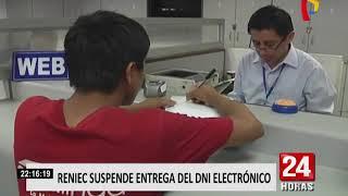 Download RENIEC suspende entrega del DNI electrónico Video