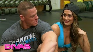 Download Nikki Bella and John Cena set up a friendly bet while at the gym: Total Divas, January 18, 2015 Video