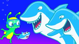 Download Groovy The Martian meets Baby shark - Sea patrol to the rescue: let's find daddy & mommy shark! Video