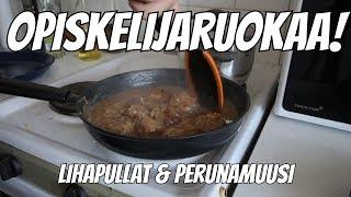 Download Opiskelijaruokaa! // 1 // Lihapullat & Perunamuusi Video