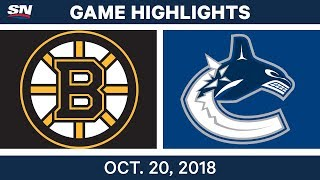 Download NHL Highlights | Bruins vs. Canucks - Oct. 20, 2018 Video