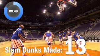 Download World Record for Most Basketball Slam Dunks in One Minute!   Harlem Globetrotters Video