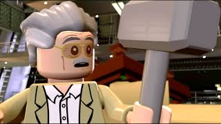 Download Stan Lee Lifts Thor's Hammer | Ultron Final Cut Scene - LEGO Marvel's Avengers (1080p) Video