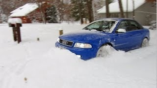 Download 500 hp Audi S4 quattro vs 12″+ of fresh snow! Unstoppable... Video