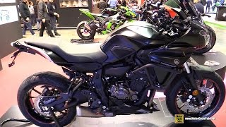 Download 2016 Yamaha MT07 Tracer Customized by Puig - Walkaround - 2016 EICMA Milan Video