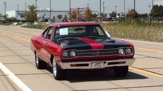 Download Test Driving 1969 Plymouth Road Runner 383 V8 4 BBL Four Speed Video