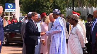 Download Prince Charles Meets With President Buhari At The Villa Video