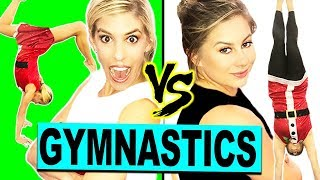 Download Ultimate Holiday Gymnastics Challenge with Shawn Johnson! (Gymnast vs Olympian) Video