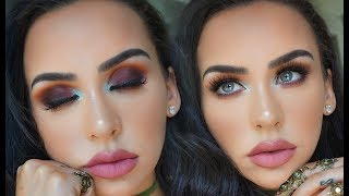 Download SUMMER SUNSET EYES USING ALL NEW PRODUCTS! Carli Bybel Video