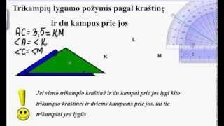 Download Trikampių lygumo požymis pagal kraštinę ir du kampus prie jos Video