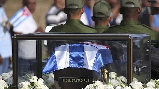 Download Fidel Castro briefly reunited with Che Guevara: the Cuban leader's ashes make the journey to… Video