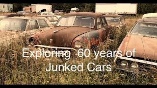 Download Junkyard Gems! Checking 60 years of classic cars stashed in a scrapyard Video