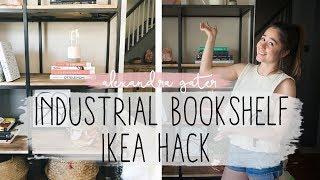 Download DIY INDUSTRIAL BOOKSHELF IKEA HACK | EASY IKEA HACK Video