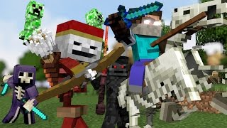 Download ♫ ″MONSTER CREW″ - MINECRAFT PARODY ″SHAPE OF YOU″ ♫ - ANIMATED MINECRAFT MUSIC VIDEO (2017) ♫ Video