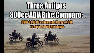 Download Three Amigos 300cc ADV Bike Comparo: BMW G310GS vs Kawasaki Versys-X 300 vs Royal Enfield Himalayan Video