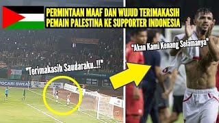 Download Moment Mengharukan Indonesia vs Palestina yang Akan Selalu di Kenang Selamanya Video