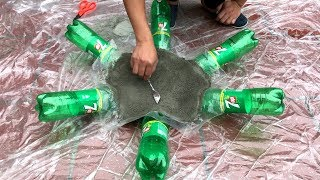 Download DIY - ❤️ CEMENT CRAFT IDEAS ❤️ - Idea of making a tree pots with cement and bottles scrap Video