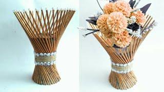 Download Newspaper flower vase   flower vase making   newspaper craft   HMA##170 Video