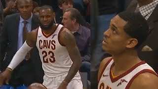 Download LeBron James Fools The Entire Pelicans Team with The Smartest HIGH IQ Play To Jordan Clarkson! Video