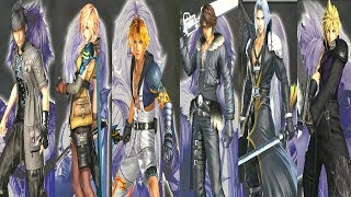 Download Dissidia Final Fantasy NT - All Character Costumes / Outfits Video