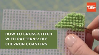 Download Cross Stitch For Beginners: Trendy Chevron Coasters Video