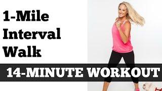 Download 1 Mile Fast Interval Walk | Low Impact Indoor Power Walking Jogging Workout Video