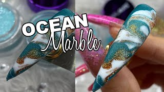 Download SUPER EASY *2MINUTE* OCEAN Acrylic Marble Video