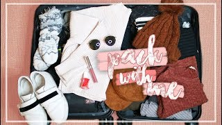 Download WHAT TO PACK IN A CARRY ON SUITCASE FOR A WINTER VACATION! // Pack With Me Video