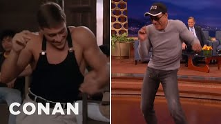 "Download Jean-Claude Van Damme Recreates His ""Kickboxer"" Dance Scene - CONAN on TBS Video"