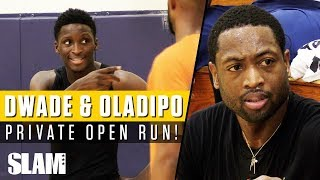 Download Dwyane Wade & Victor Oladipo WENT AT IT in Private NBA Run with #RemyWorkouts!🔥 Video