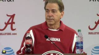 Download Nick Saban's final presser before team leaves for Peach Bowl Video
