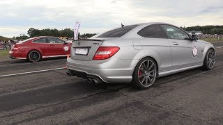 Download 1100HP Mercedes C63 Black Series GAD vs 1080HP C63 GAD vs 900HP Porsche 9ff Video